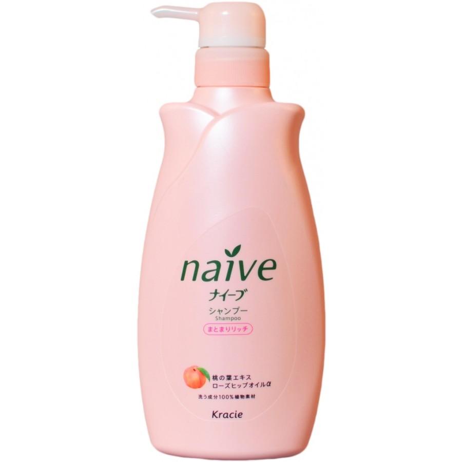 Kracie naive кондиционер для волос с экстрактом персика, флакон, 550 мл..