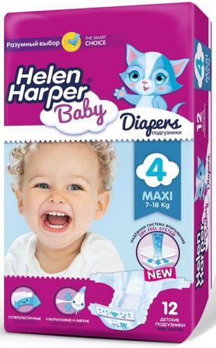 dc4ffa30966b Купить. Подгузники Helen Harper Baby Maxi (7–18 кг.), 12 шт.
