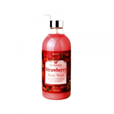Гель для душа Lunaris Body Wash Strawberry с экстрактом клубники 750 мл.